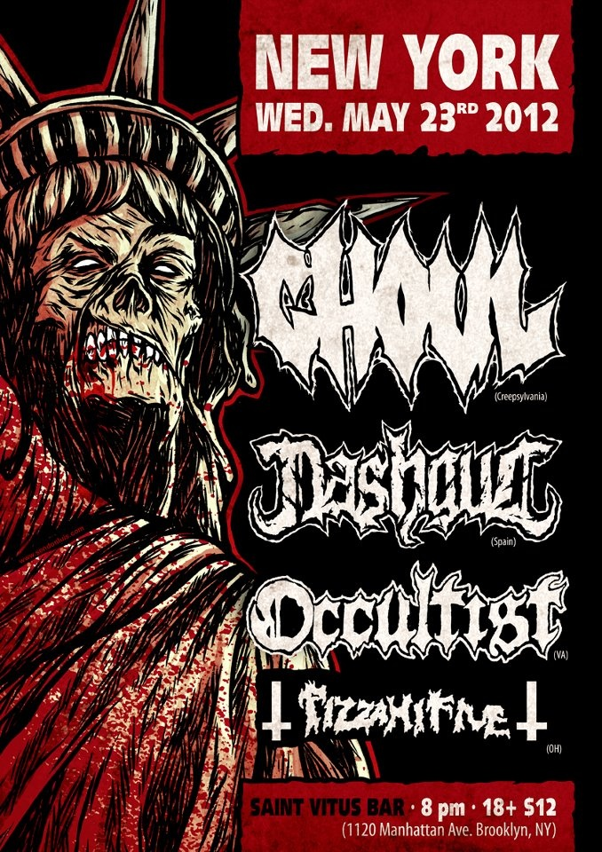 Ghoul and Nashgul gig in New York the night before MDF starts. I suspect this will be messy as drinks are planned with some Australian mates that afternoon