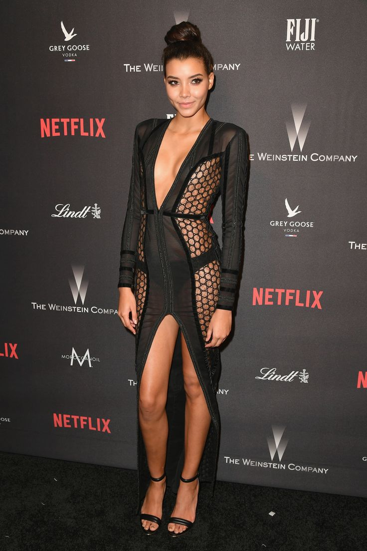 BEVERLY HILLS, CA - JANUARY 08: Michaela Rivera attends The Weinstein Company and Netflix Golden Globe Party, presented with FIJI Water, Grey Goose Vodka, Lindt Chocolate, and Moroccanoil at The Beverly Hilton Hotel on January 8, 2017 in Beverly Hills, California. (Photo by Earl Gibson III/Getty Images) via @AOL_Lifestyle Read more: http://www.aol.com/article/entertainment/2017/01/09/golden-globes-2017-after-parties/21650916/?a_dgi=aolshare_pinterest#fullscreen