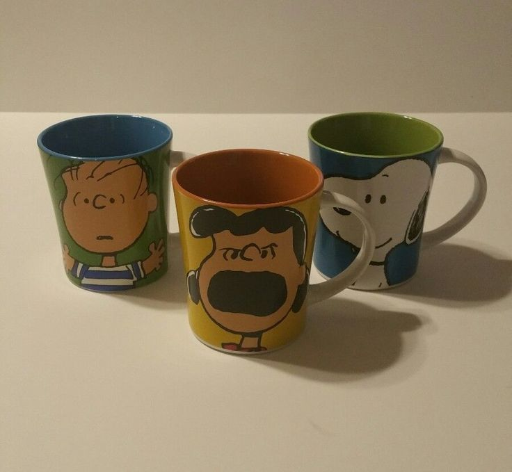 Peanuts Gang Close Ups Lucy Linus Charlie Snoopy 15 oz Coffee Cup Mug Variety #Peanuts