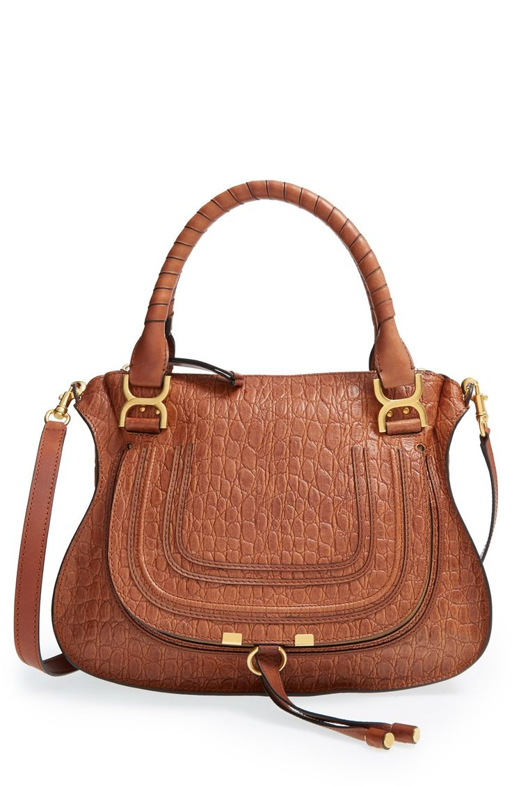 This embossed Chloé satchel is simply beautiful.