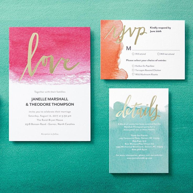Wedding invitations in happy hues Your color