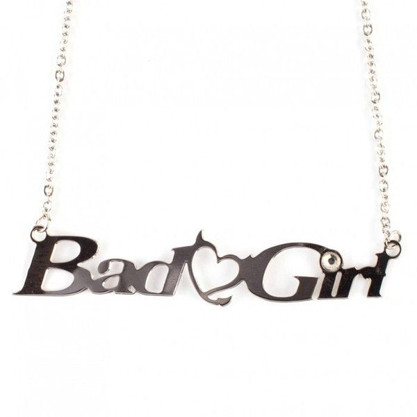 Bad Girls Club Rhinestone Bad Girl Necklace | Bad Girls Club | Oxygen (445.545 VND) ❤ liked on Polyvore featuring necklaces and jewelry
