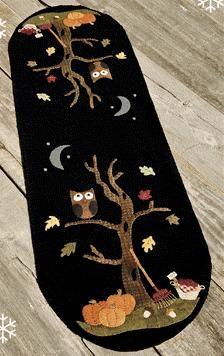 "Wool Felt Central - Wool Felt Patterns   NTH48 An Autumn Mood by Nutmeg Hare  36"" x 11"" wool applique table runner  Pattern: $8.50"