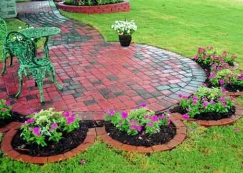17 meilleures id es propos de bordures de jardins en brique sur pinterest - Idee de bordure de jardin ...