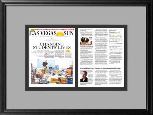 framing newspaper articles