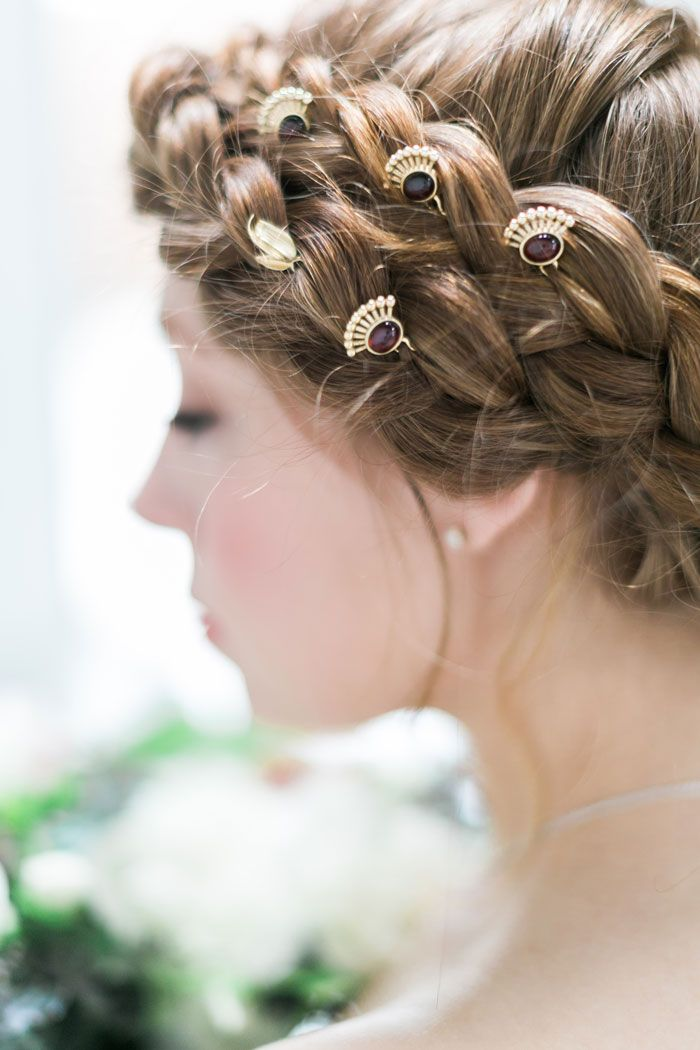 Garnet Bridal Hair Pins