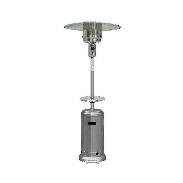 Stainless Steel Patio Heater with Table ($140) ❤ liked on Polyvore featuring home, outdoors, outdoor decor, grills & fireplaces, outdoor heaters, patio & outdoor decor, patio heater, az patio heaters, outdoor patio decor and outside heaters
