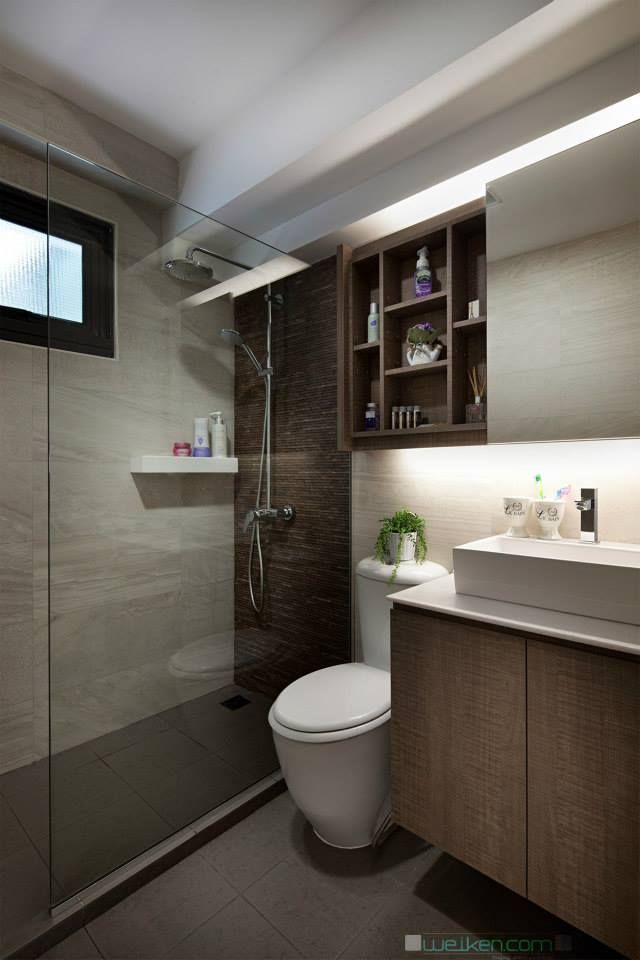 43 best images about home decor on pinterest flats for Small toilet interior design