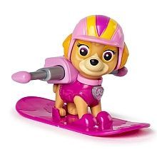 Paw Patrol - Winter Rescues Action Pack Pup, Skye mit Snowboard