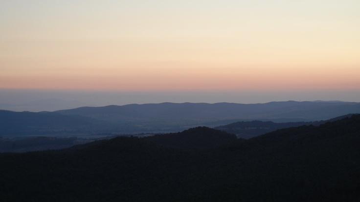 sundown from the castello