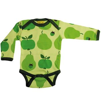 Apple and pear onesie from Duns