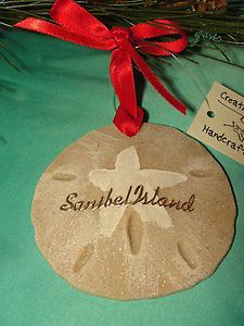 SANIBEL ISLAND BEACH SAND DOLLAR CHRISTMAS ORNAMENT TROPICAL COASTAL