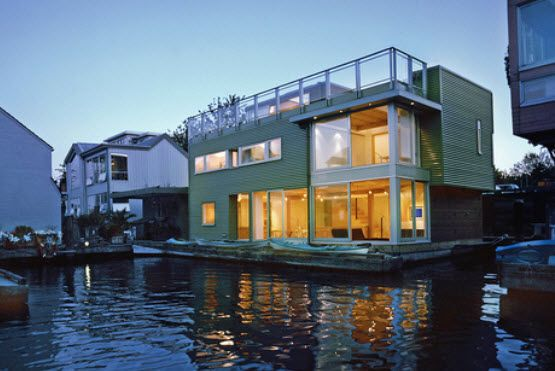 10 best images about architecture house boats on for Floating homes portland