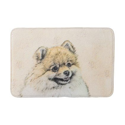#Pomeranian (Orange) Bath Mat - #Bathroom #Accessories #home #living