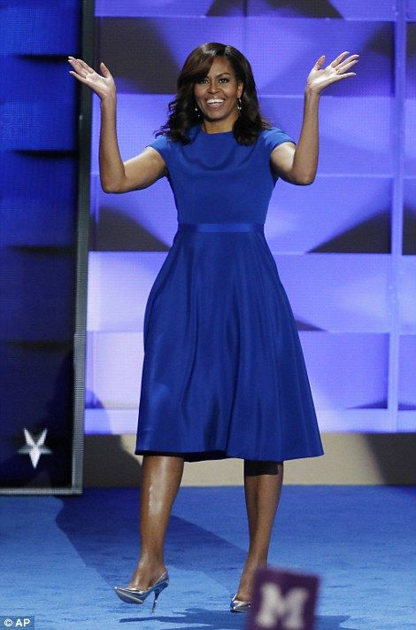 Michelle Obama wore a Christian Siriano dress http://www.nytimes.com/2016/07/27/fashion/michelle-obama-christian-siriano-democratic-national-convention.html?_r=0