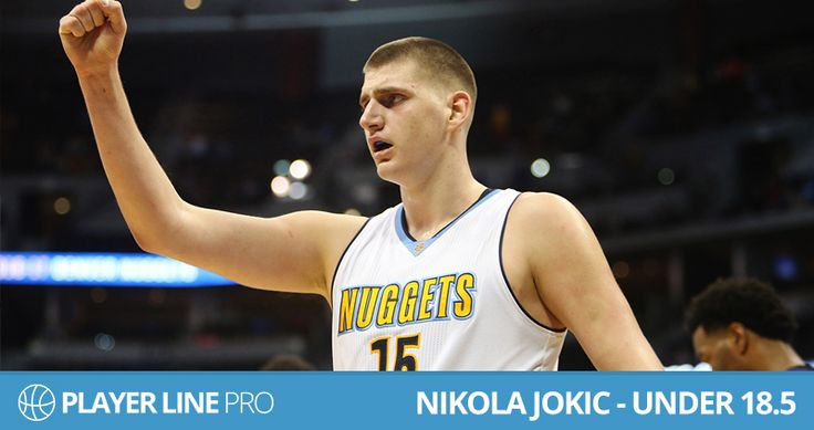 Image of Nikola Jokic – Under 18.5  at Player Line Pro .Jokic is one of the best player, he will have to be very careful to avoid foul trouble. Nikola Jokic is averaging a career high in usage and gets to the line almost five times a game. To know more about him you have to visit: playerlinepro.com