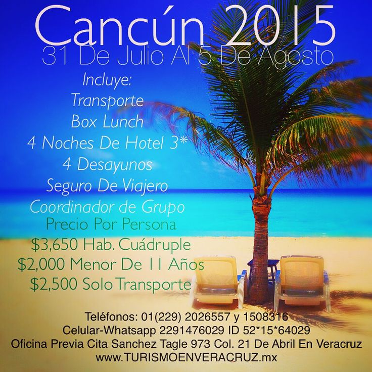 #Verano en #Cancun http://www.turismoenveracruz.mx #turismo #viajes #travel #hospedaje #hotel