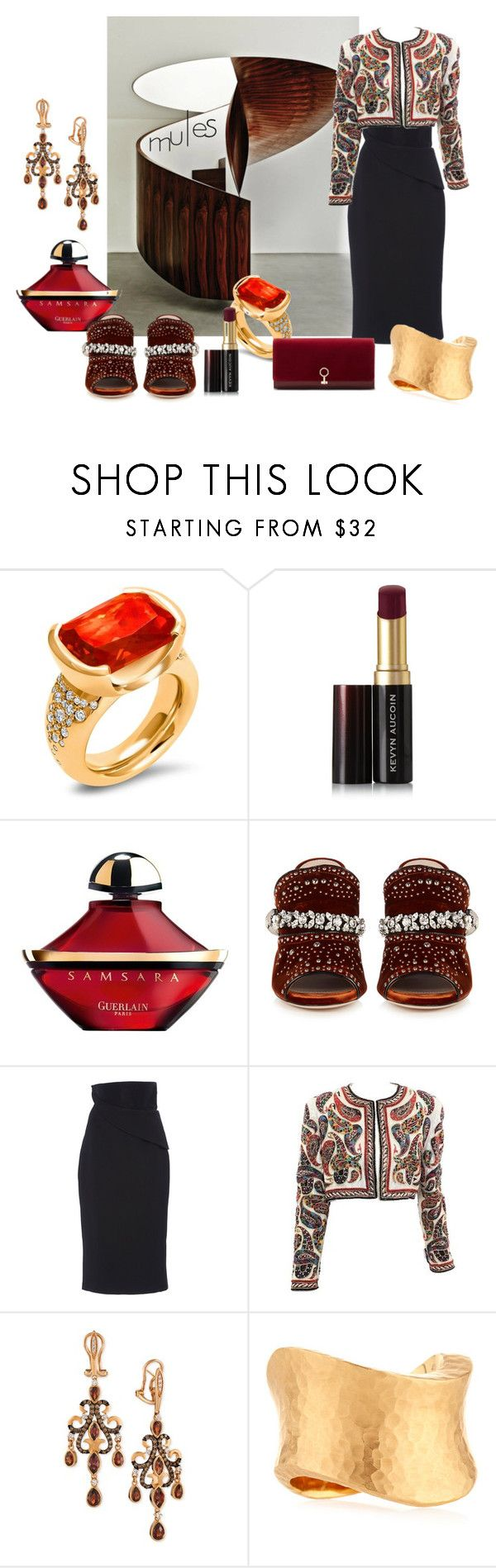 """CASEY"" by pursue-happiness ❤ liked on Polyvore featuring Hargreaves Stockholm, Kevyn Aucoin, Guerlain, Miu Miu, Brandon Maxwell, Bill Blass, LE VIAN, Vendorafa and Louise et Cie"