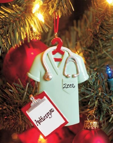 Scrubs Ornament, Personalized for when I graduate nursing and medical school <3