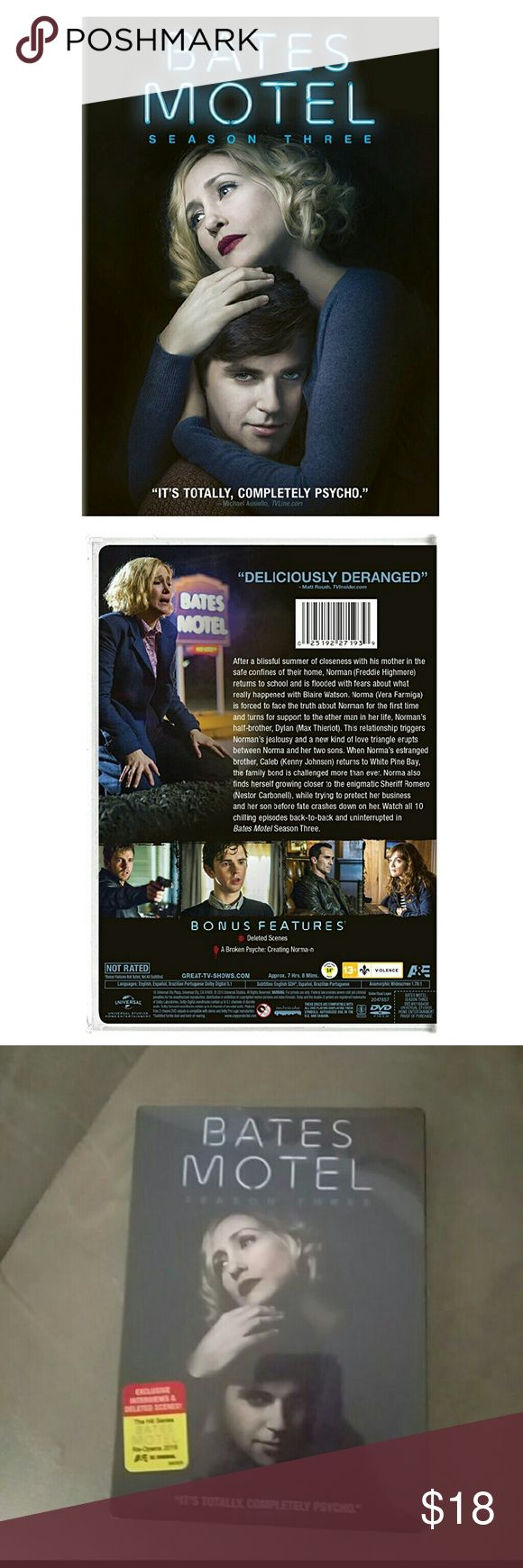 Bates Motel season 3 Bates Motel season 3 New in package Are you in search of this? ISO?  No trades or returns Other
