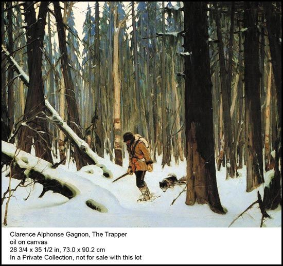 Clarence Alphonse Gagnon The Trapper