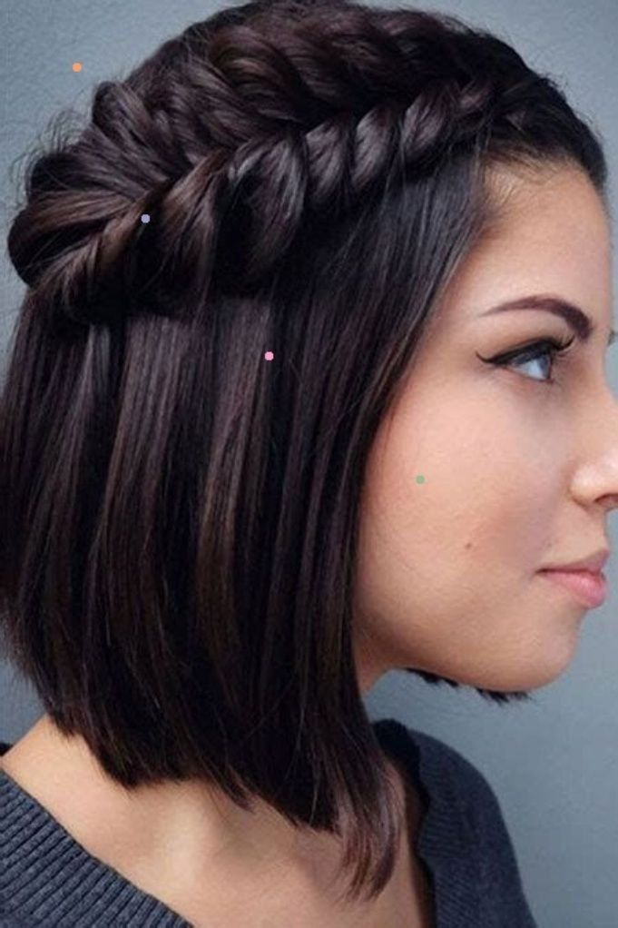 Prom Hairstyles Short Hair 2020 Easyhairstyles Easy Hairstyles Diyhairstyl In 2020 Braids For Short Hair Prom Hairstyles For Short Hair Short Hair Braids Black