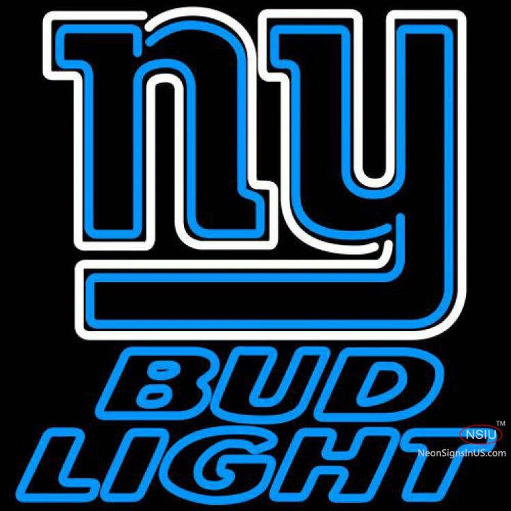Bud Light Neon New York Giants NFL Real Neon Glass Tube Neon Sign,Affordable and durable,Made in USA,if you want to get it ,please click the visit button or go to my website,you can get everything neon from us. based in CA USA, free shipping and 1 year warranty , 24/7 service