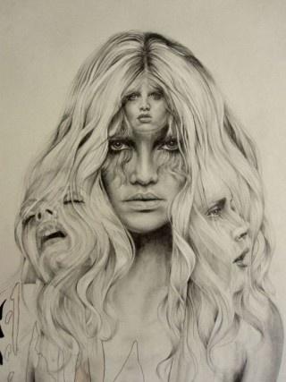 beautiful tonal drawing