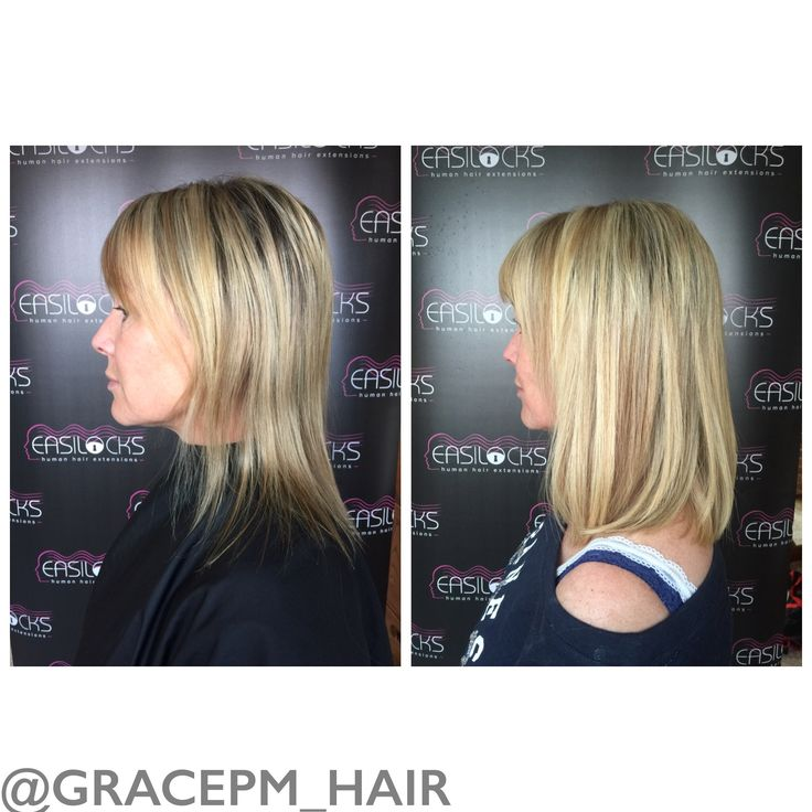 """80 strands of Easilocks hair extensions in pearl and oak, sand and vanilla and ice toffee. 14"""" hair to add thickness and a little length."""