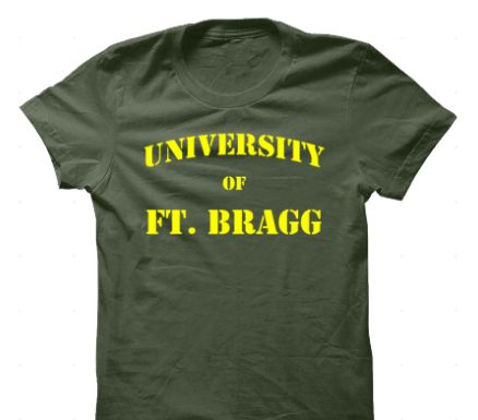 Ft Bragg, home of our Special Operations Forces. Visit our website to get one of these.