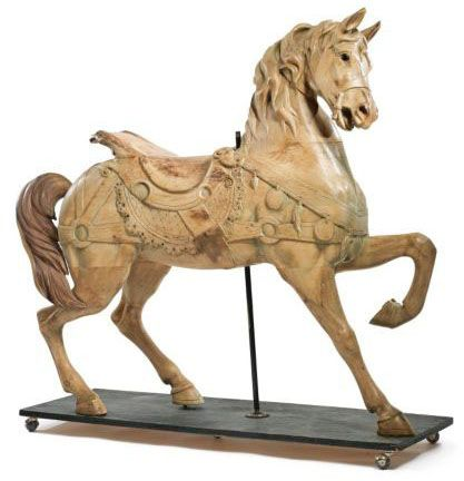 extremely rare carolcil animals | Carousel Horse | Dentzel Stander Outside Row Flowing