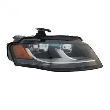 TYC 20-9039-00/20-9040-00 | 2009 Audi A4 Chrome/Clear Halo Headlights for Coupe/Sedan/Hatchback/Wagon