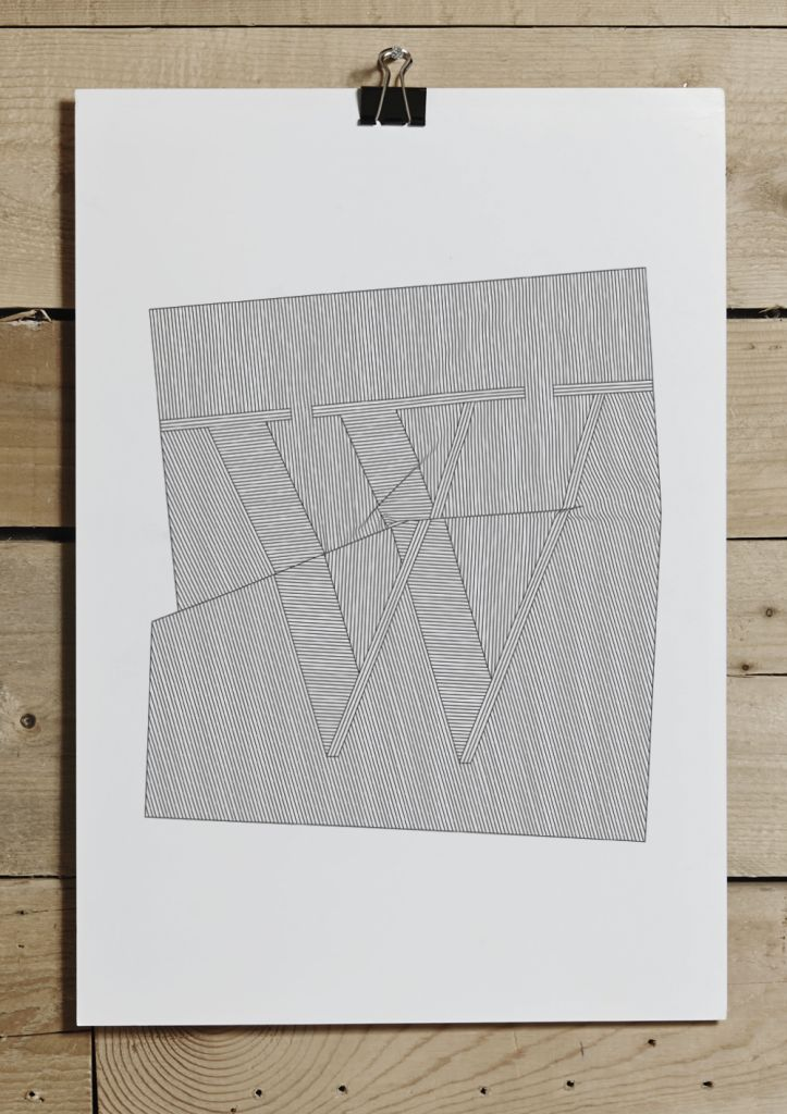 """The chicest letter of them all, """"W"""" is now ready to decorate your wall. Our graphic designer, Marie, has created the poster as a special ode to winter and a celebration of the stark beauty this season brings here in Scandinavia. White and black, linear, and graphical — for us, this is winter."""