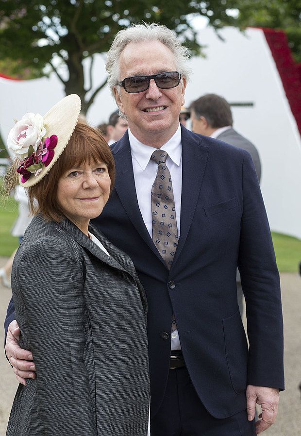 Alan Rickman and wife Rima Horton at the Qatar Goodwood Festival in 2015