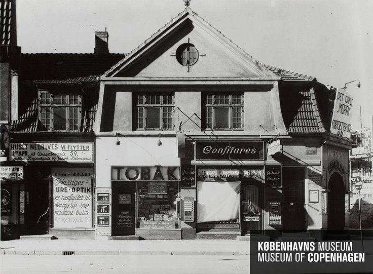 Amagerbrogade 90, hjørnet af Tingvej i april 1940. Foto Ernst Hannuss.