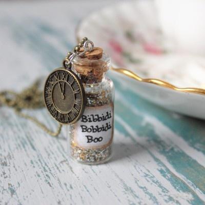 Bottled Fairy Godmother Magic Pendan. Bottled jewellery!: Fairies Godmother