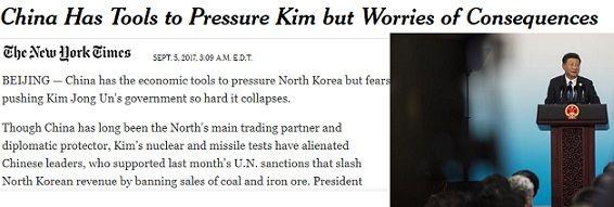N.Y. Times: Το Πεκίνο προτιμά μια πυρηνικά εξοπλισμένη Β. Κορέα