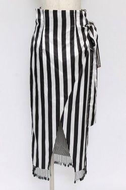画像1: alice auaa / ストライプ巻きスカート