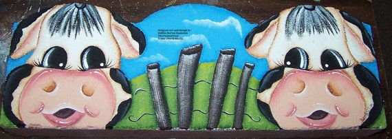 Scalloped Cement Garden Edger E Pattern Cows by ThePaintedPearDeb, $5.00