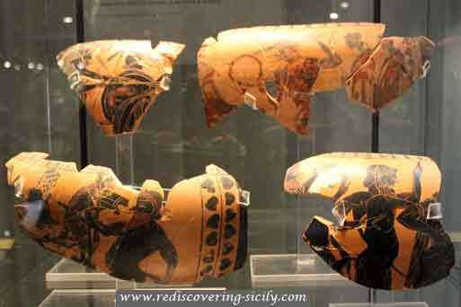 Enna - Archeological Museum : Collection of Greek pottery