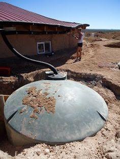 Home water catchment system - underground