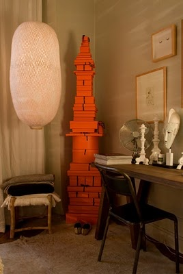 Corner tower of Hermès boxes (via The Diversion Project) Goodness me - to have soooo much Hermès!