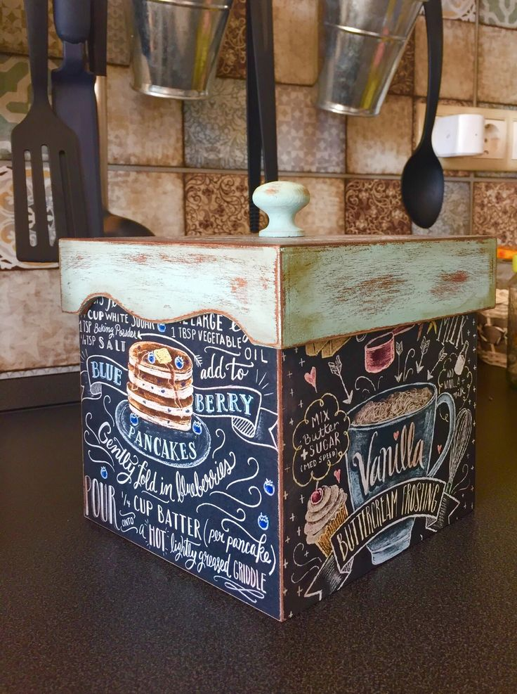 Chalkboard Coffee box