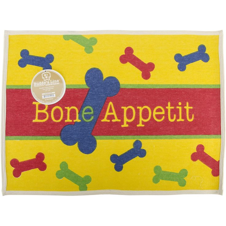 "Fashion Forward Cotton Mat 19""""X25.5""""-Bone Appetit"