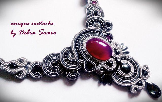 Soutache necklace by Delia Soare, Romania