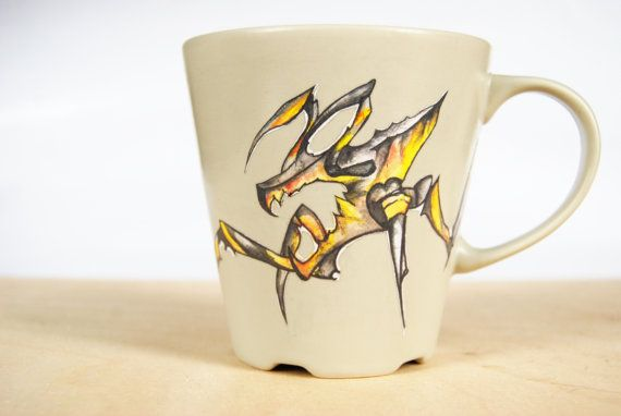 Starship Troopers inspired Bug Mug by WAIQ on Etsy