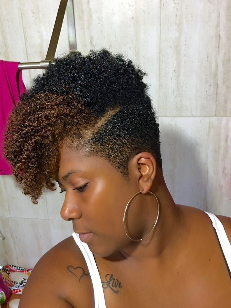 Natural Mohawk Tapered Ombre Hair