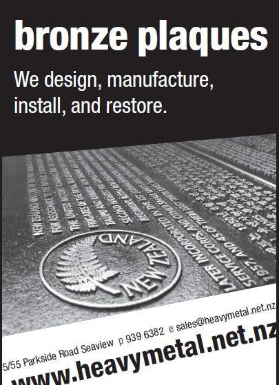 Bronze Plaque Advertising - Heavy Metal's Graphic Art