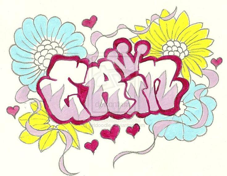 Bubble Letters Graffiti Names Girls