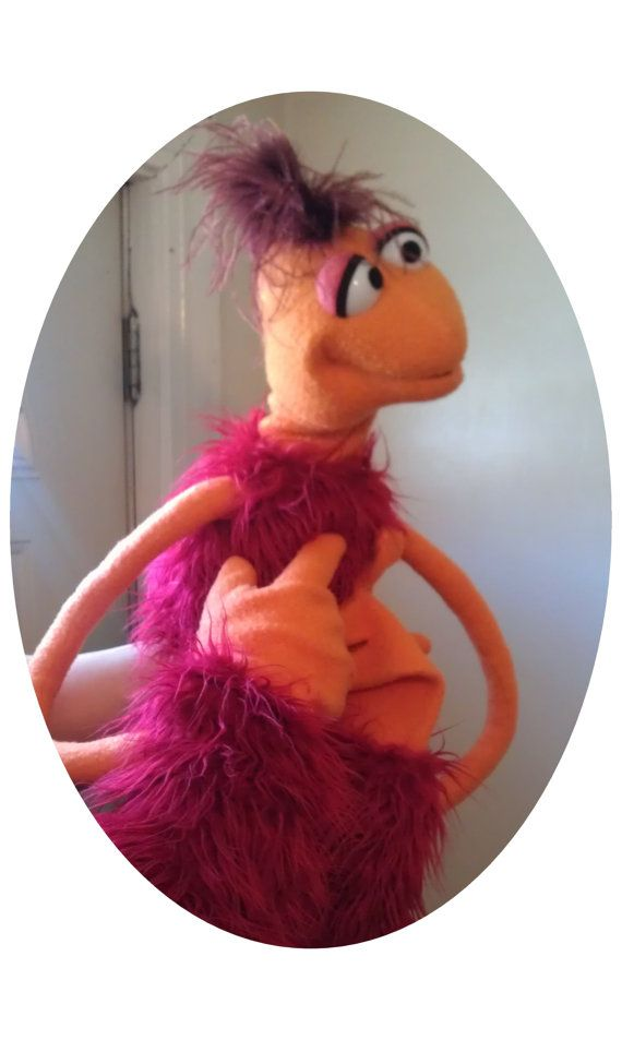 Custom Made Fraggle-Type Monster Puppet - Professional Use on etsy